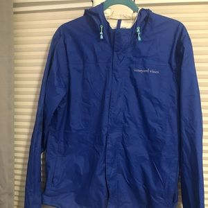 Vineyard Vines rain jacket Royal Blue